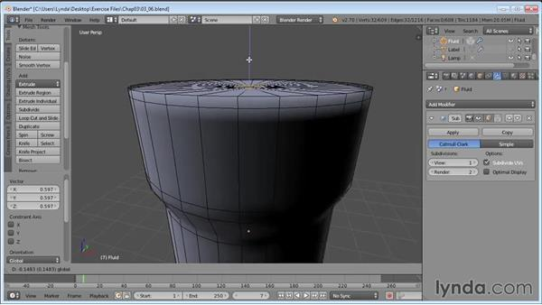 Adding fluid to the bottle: Product Shots in Blender