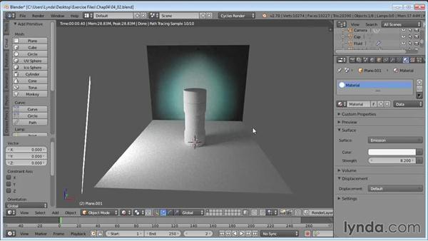 Creating temporary lighting: Product Shots in Blender