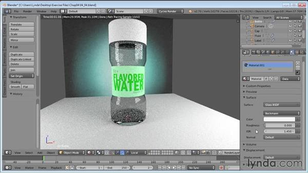 Creating a glassy material: Product Shots in Blender
