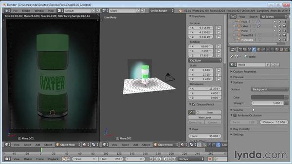 Adding environment-based lighting: Product Shots in Blender