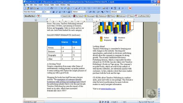 Using styles: WordPerfect Office X3 Essential Training