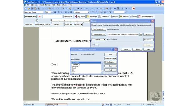 Creating a form file: WordPerfect Office X3 Essential Training