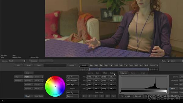 Making primary color corrections with timeline effects: Smoke 2015 Essential Training