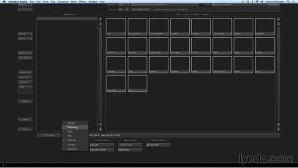 Importing layered Photoshop files into ConnectFX: Smoke 2015 Essential Training