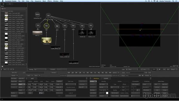 Creating a 3D scene with a Photoshop file: Smoke 2015 Essential Training