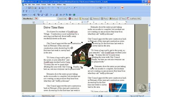 Modifying graphics: WordPerfect Office X3 Essential Training