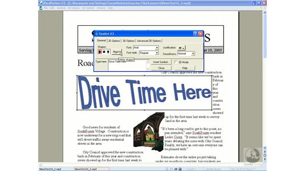 Creating TextArt: WordPerfect Office X3 Essential Training