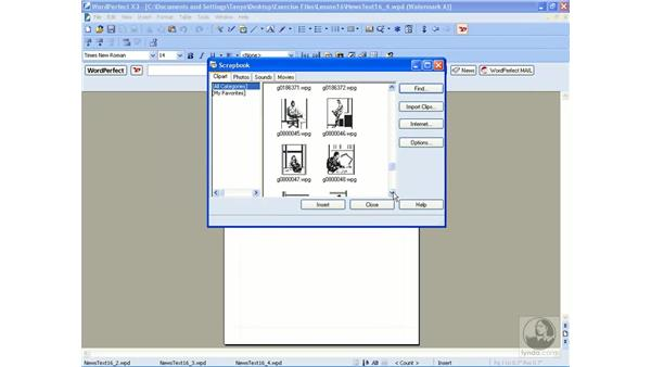 Creating watermarks: WordPerfect Office X3 Essential Training