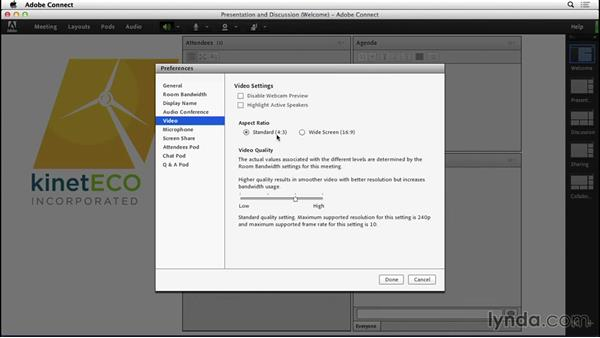 Setting preferences: Adobe Connect Essential Training