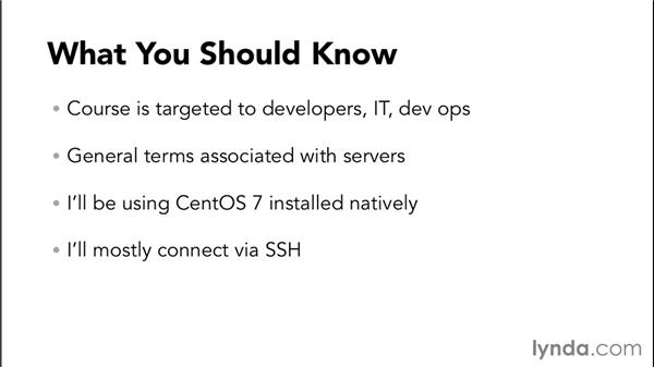 What you should know: Up and Running with CentOS Linux
