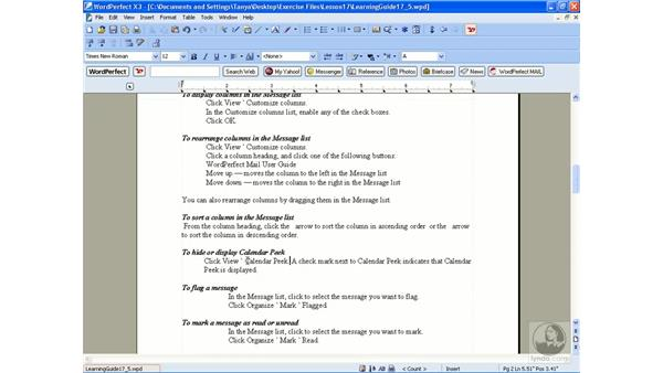 Using speedlinks: WordPerfect Office X3 Essential Training