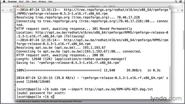 Installing packages from other sources: Up and Running with CentOS Linux