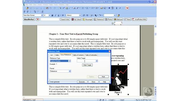 Creating cross references: WordPerfect Office X3 Essential Training