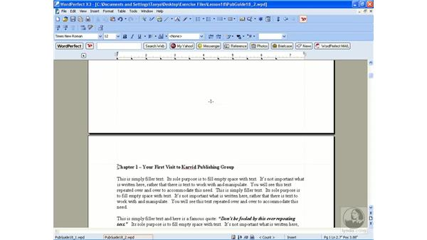 Creating a table of contents: WordPerfect Office X3 Essential Training