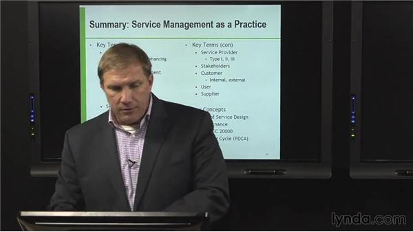 Summary: Service management as a practice: ITIL Foundations