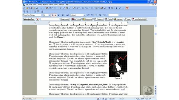 Creating footnotes and endnotes: WordPerfect Office X3 Essential Training