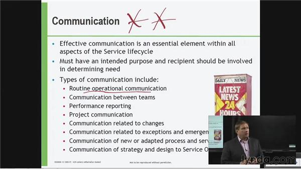 Communication: ITIL Foundations