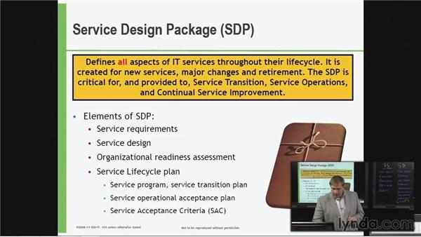 Service Design package: ITIL Foundations