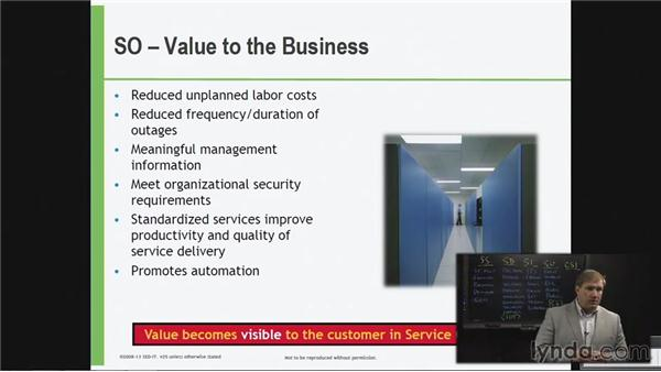Value to the business of Service Operation: ITIL Foundations