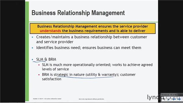 Business relationship management: ITIL Foundations