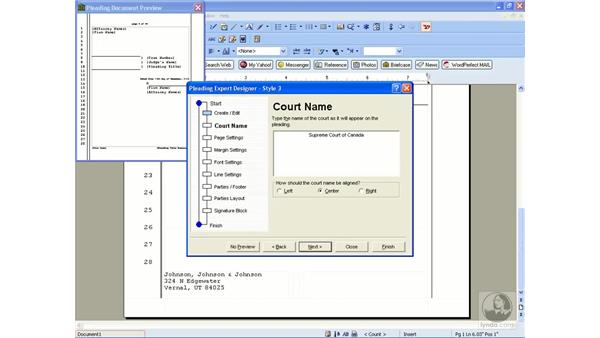Creating and editing pleading styles: WordPerfect Office X3 Essential Training