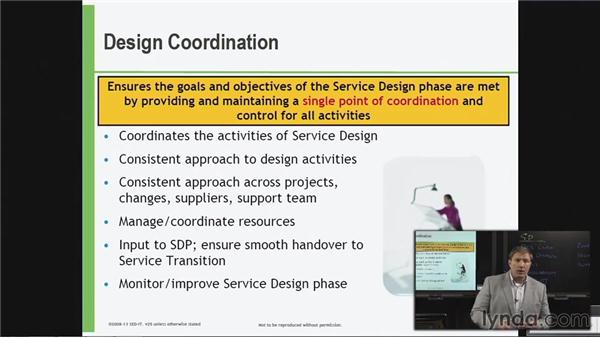 Service Design coordination: ITIL Foundations