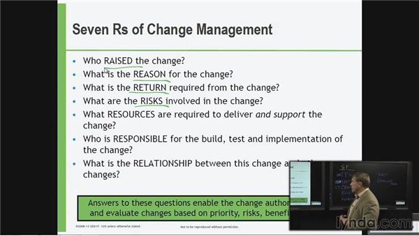 The seven Rs of change management: ITIL Foundations