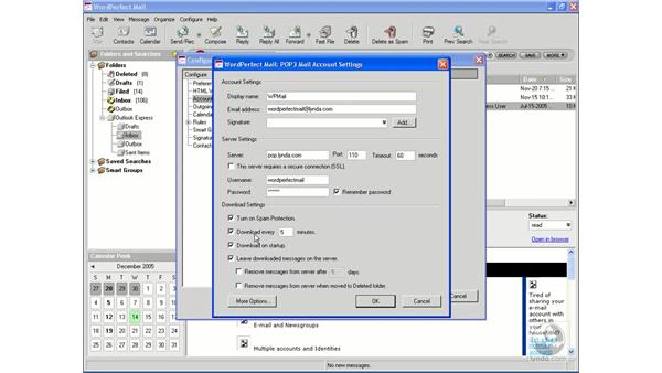 Modifying and deleting accounts: WordPerfect Office X3 Essential Training