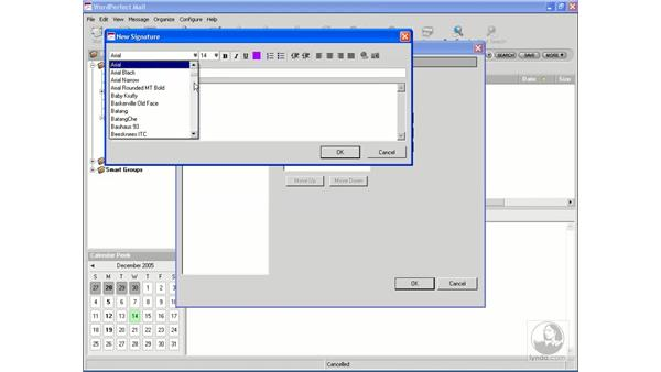 Working with signatures: WordPerfect Office X3 Essential Training