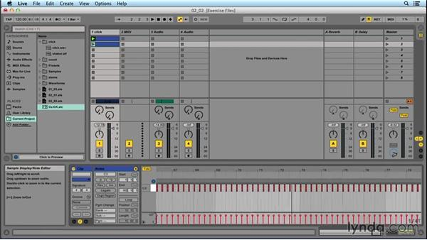 Creating click tracks: Performing with Ableton Live: On Stage with St. Vincent