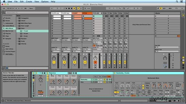 Creating a song preset in an Instrument Rack: Performing with Ableton Live: On Stage with St. Vincent