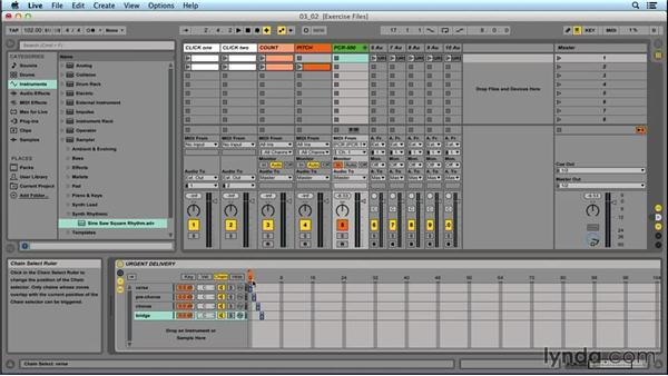Switching sounds within the song preset: Performing with Ableton Live: On Stage with St. Vincent