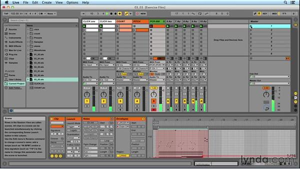 Using clip automation to switch sounds: Performing with Ableton Live: On Stage with St. Vincent