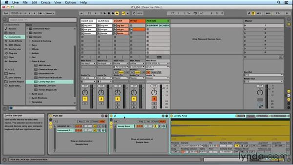 Adding songs in nested Racks: Performing with Ableton Live: On Stage with St. Vincent