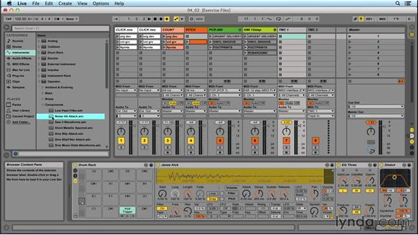 Ableton drum presets: Performing with Ableton Live: On Stage with St. Vincent