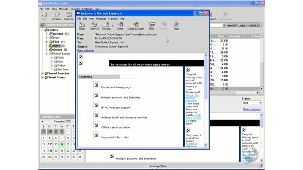 Printing messages: WordPerfect Office X3 Essential Training