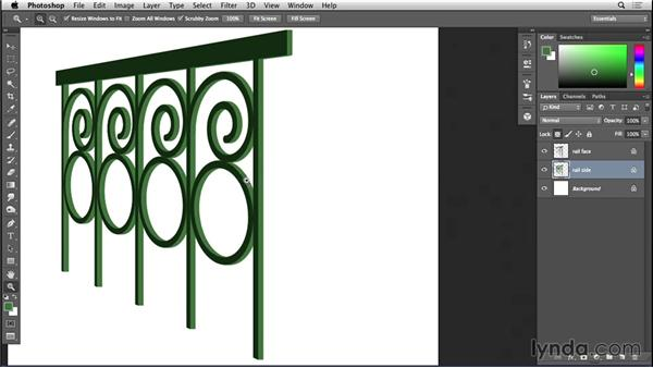 Refining railings in Photoshop: Bert Monroy: The Making of Amsterdam Mist, the Structures