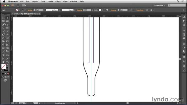 Starting a rail upright in Illustrator: Bert Monroy: The Making of Amsterdam Mist, the Structures