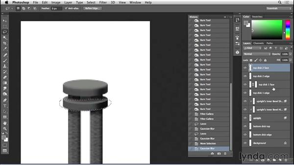 Finishing a rail upright in Photoshop: Bert Monroy: The Making of Amsterdam Mist, the Structures