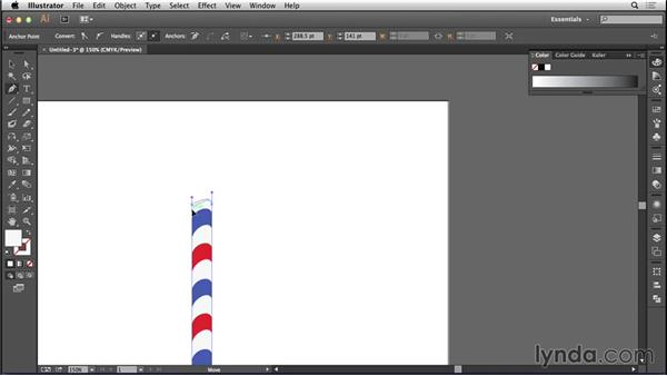 Creating a flagpole in Illustrator: Bert Monroy: The Making of Amsterdam Mist, the Structures