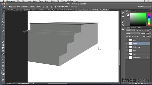 Creating the staircase steps: Bert Monroy: The Making of Amsterdam Mist, the Structures