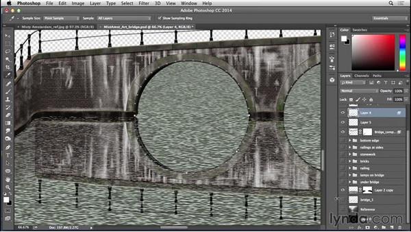 Finishing bridge reflections: Bert Monroy: The Making of Amsterdam Mist, the Structures