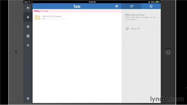 Making files available offline: Up and Running with Box
