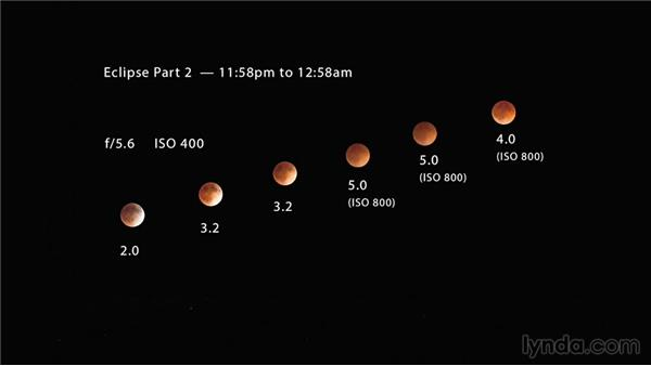 Planning test shoots to evaluate exposure and interval times: Photographing and Assembling a Lunar Eclipse Composite