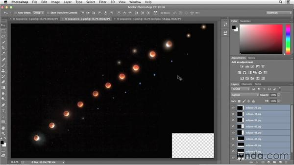 Choosing the best shots to refine the moon sequence: Photographing and Assembling a Lunar Eclipse Composite
