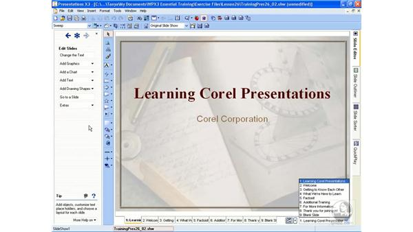 Opening and exploring a presentation: WordPerfect Office X3 Essential Training