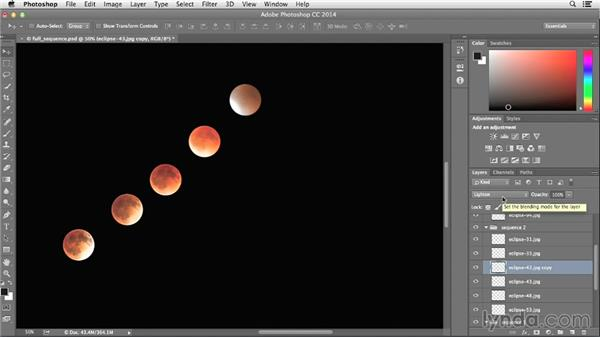 Modifying the moon sequence: Photographing and Assembling a Lunar Eclipse Composite