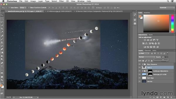 Using reference shots to determine the correct moon path: Photographing and Assembling a Lunar Eclipse Composite