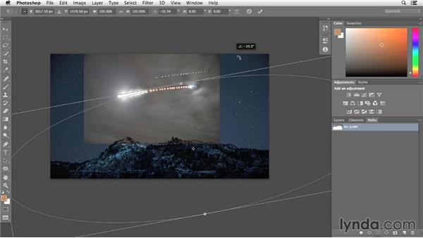 Creating a guide layer for the moon arc: Photographing and Assembling a Lunar Eclipse Composite