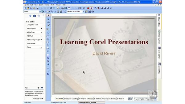 Saving a presentation: WordPerfect Office X3 Essential Training
